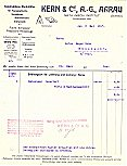 Kern Invoice from May 1917